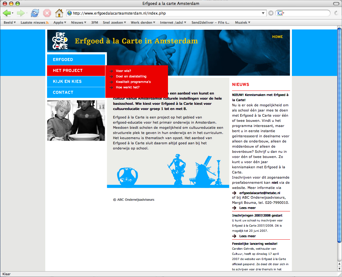 Erfgoed a la Carte - Website