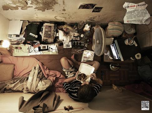 Mini-apartementen in Hong Kong