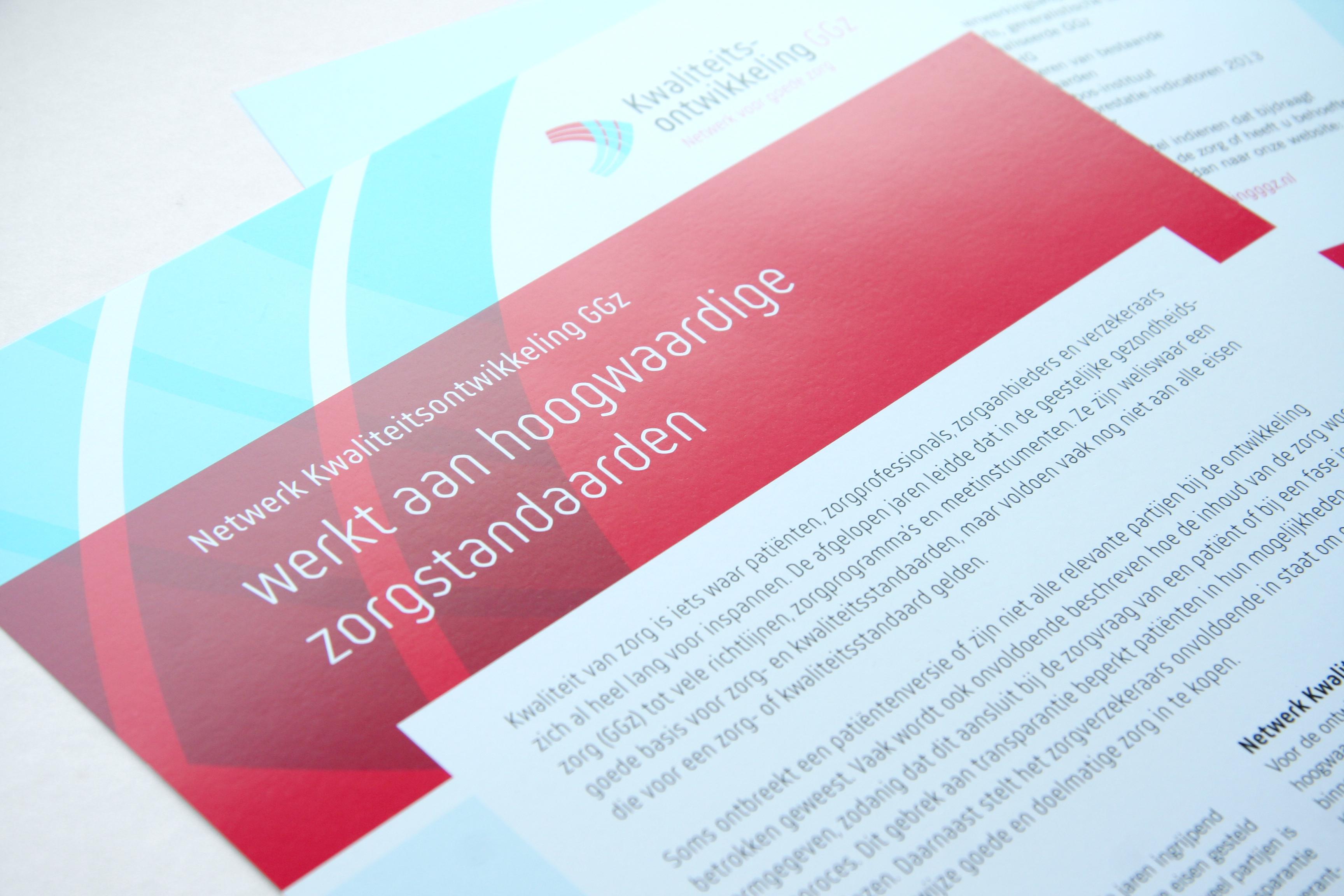 Voorbeeld ontwerp leaflet Kwaliteitsontwikkeling GGz