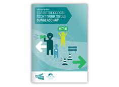 Voorbeeld ontwerp cover beeldend rapport Expeditie Burger
